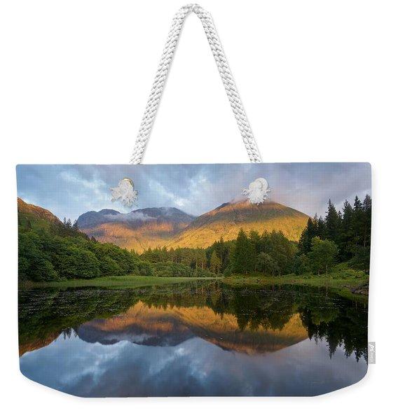 Golden Light At The Torren Lochan Weekender Tote Bag