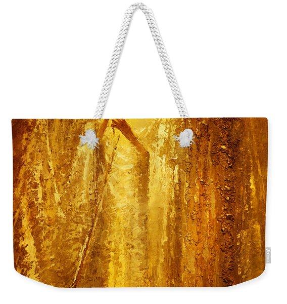 Golden Light Of Angel Weekender Tote Bag