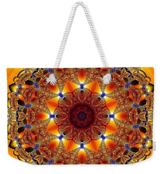 Golden Mandala Weekender Tote Bag