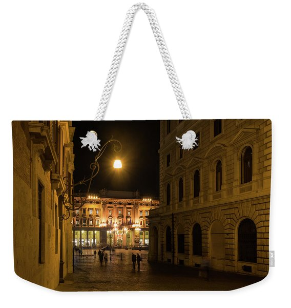 Golden Midnight - Night Walk In Rome Italy Weekender Tote Bag