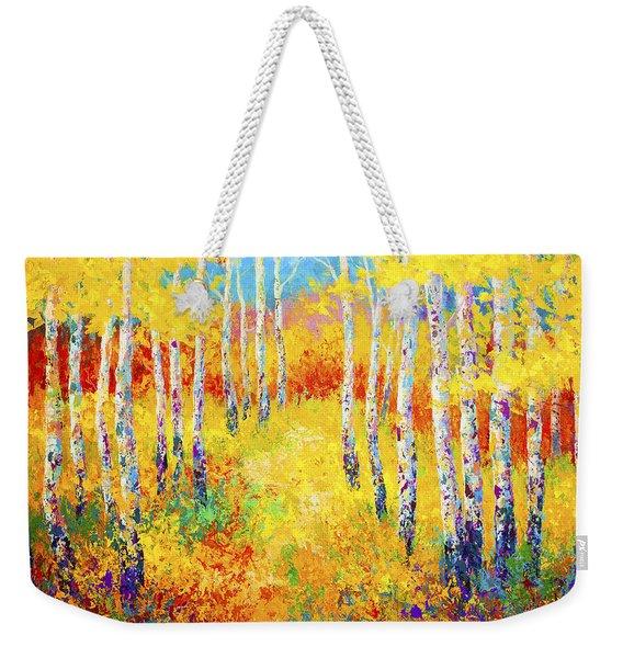 Golden Path Weekender Tote Bag