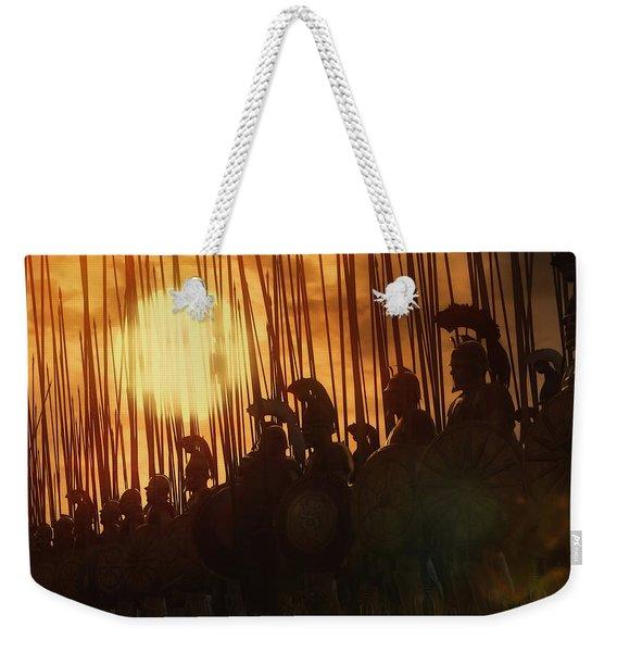 Golden Phalanx - 01  Weekender Tote Bag