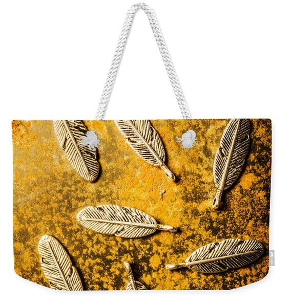 Golden Plumage Weekender Tote Bag