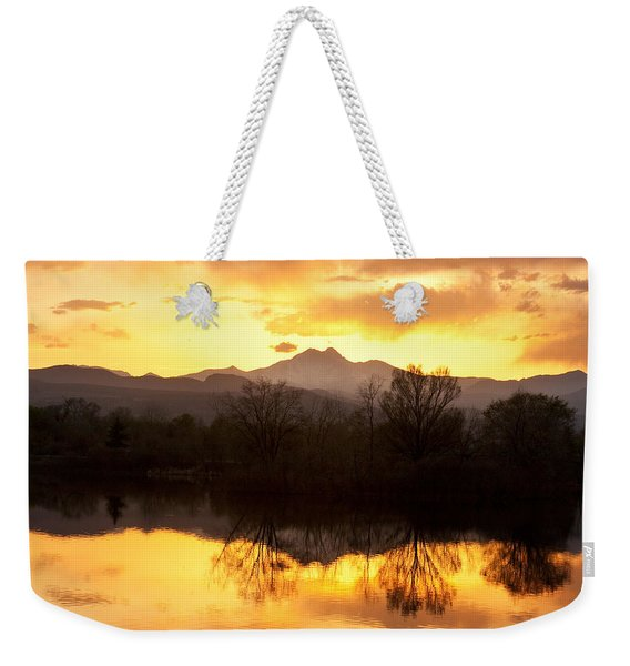 Golden Ponds Longmont Colorado Weekender Tote Bag