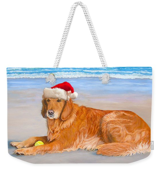 Golden Retreiver Holiday Card Weekender Tote Bag