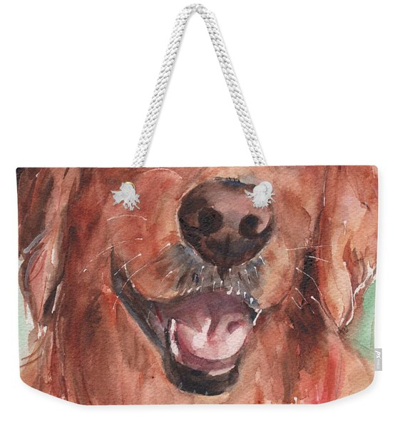 Golden Retriever Dog In Watercolori Weekender Tote Bag
