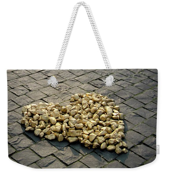 Weekender Tote Bag featuring the photograph Golden Rocky Love by Mary Lee Dereske