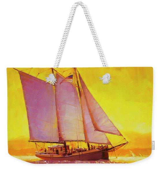 Golden Sea Weekender Tote Bag