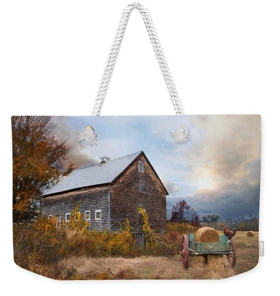 Golden Season Weekender Tote Bag
