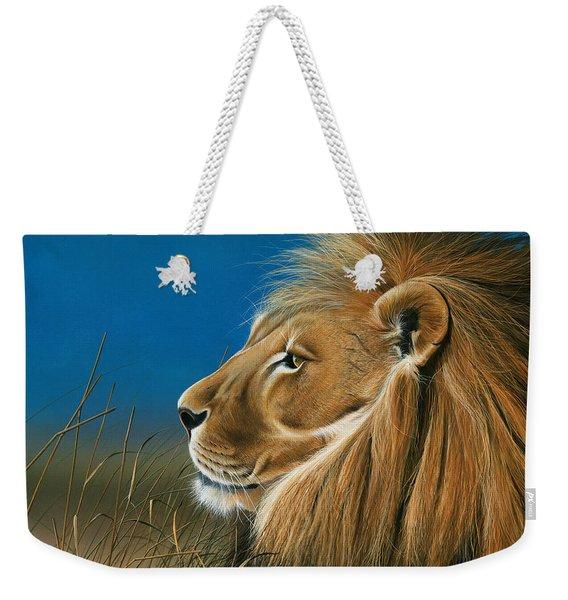 Golden Sentinal Weekender Tote Bag