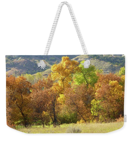 Weekender Tote Bag featuring the photograph Golden September by Cris Fulton