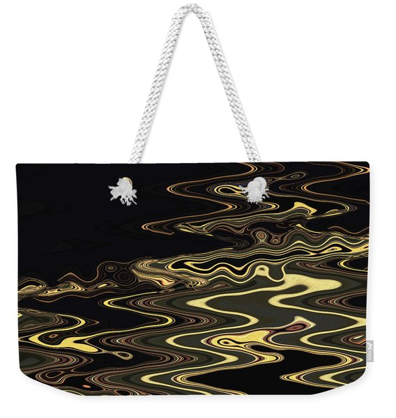 Golden Shimmers On A Dark Sea Weekender Tote Bag