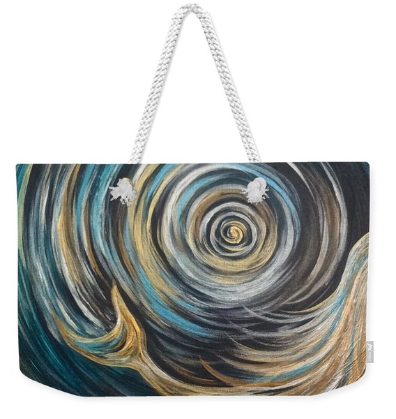 Golden Sirena Mermaid Spiral Weekender Tote Bag