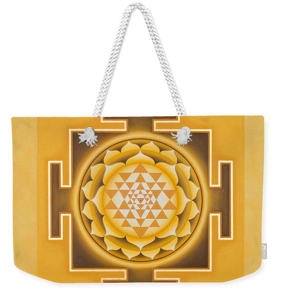 Golden Sri Yantra - The Original Weekender Tote Bag