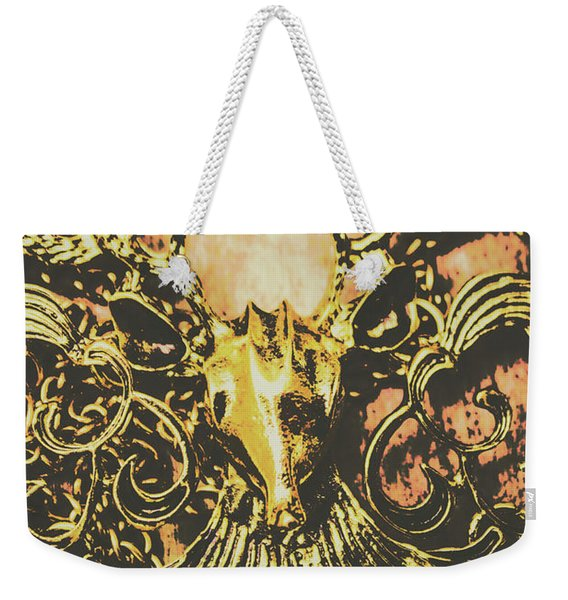 Golden Stag Weekender Tote Bag