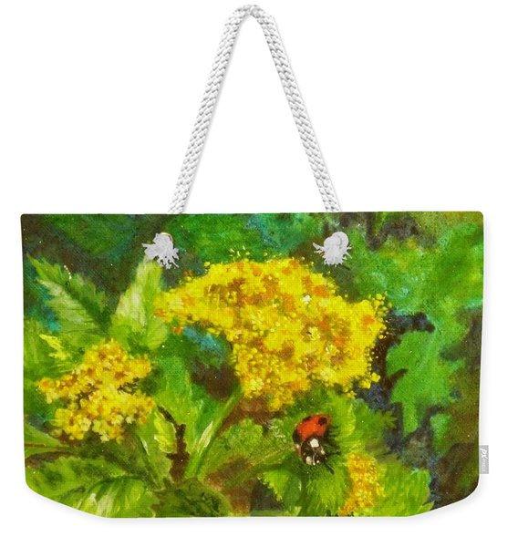 Golden Summer Blooms Weekender Tote Bag