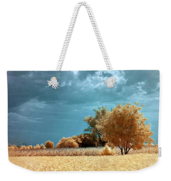 Golden Summerscape Weekender Tote Bag