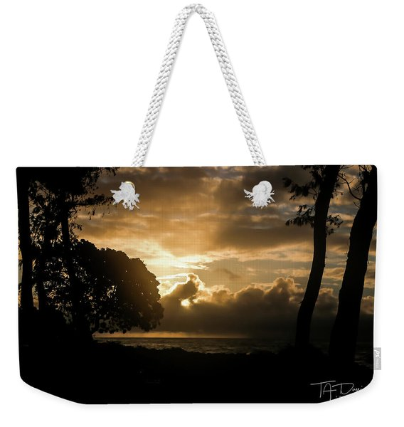 Golden Sun Weekender Tote Bag