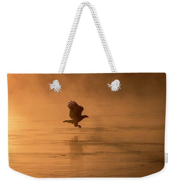 Golden Sunrise And Eagle  2016-3 Weekender Tote Bag
