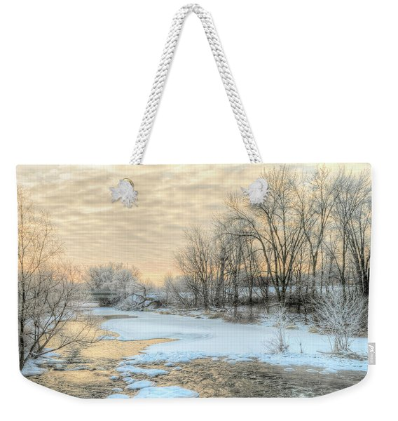 Weekender Tote Bag featuring the photograph Golden Sunrise Signed by Garvin Hunter