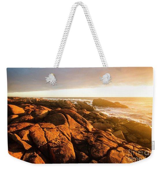 Golden Sunset Coast Weekender Tote Bag