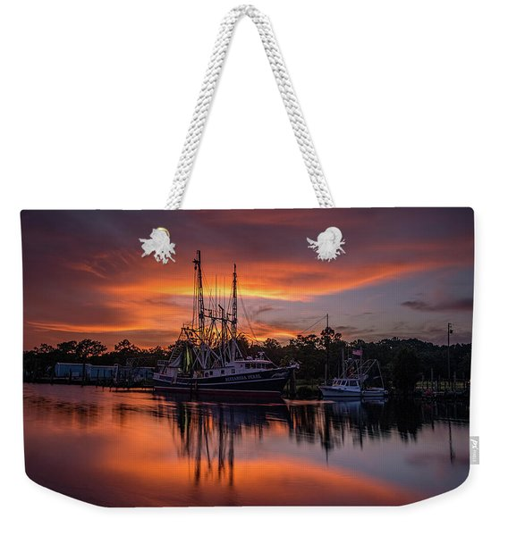 Golden Sunset On The Bayou Weekender Tote Bag