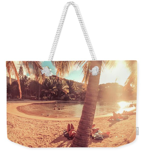 Golden Sunsets Of Airlie Beach Weekender Tote Bag