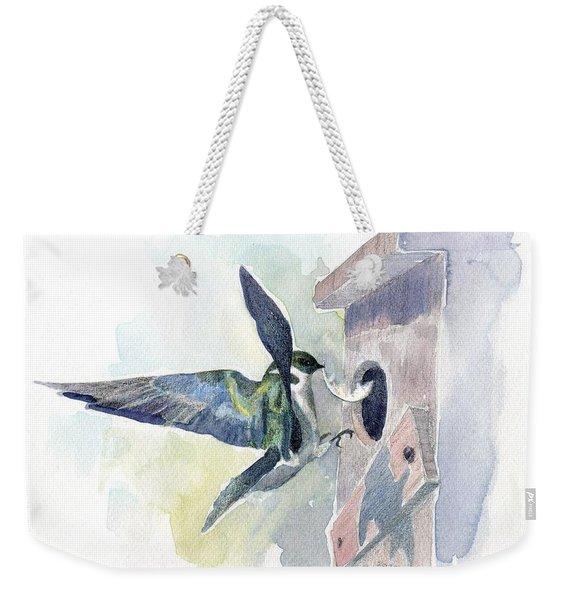 Golden Swallow Weekender Tote Bag