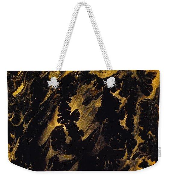 Golden Swirls Weekender Tote Bag