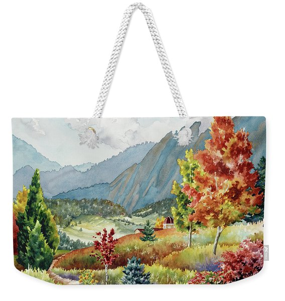 Golden Trail Weekender Tote Bag
