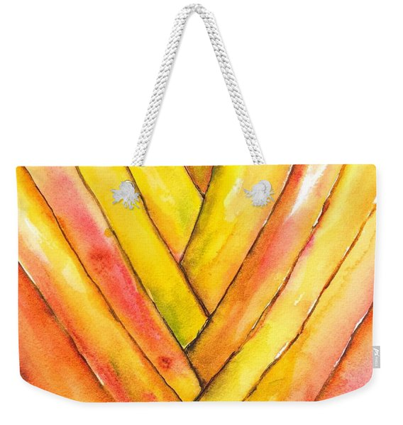 Golden Travelers Palm Trunk Weekender Tote Bag