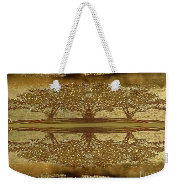 Golden Trees Reflection Weekender Tote Bag