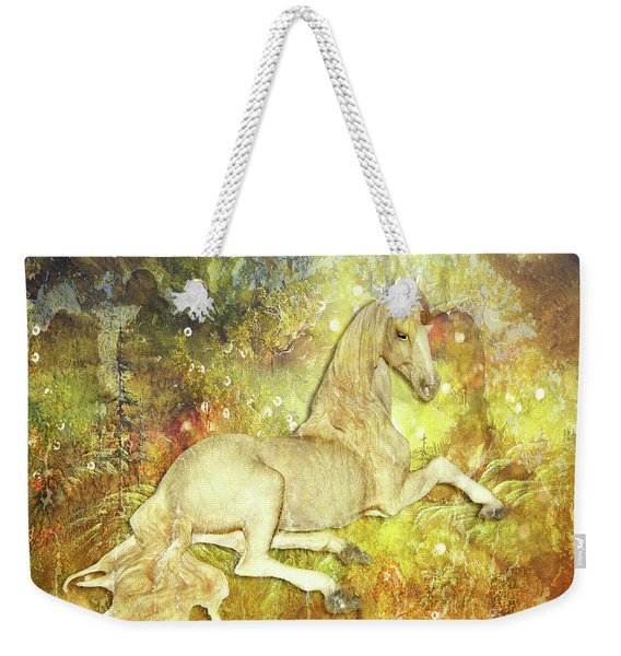 Golden Unicorn Dreams Weekender Tote Bag