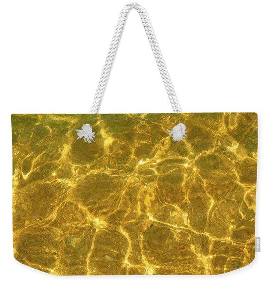 Golden Wave Weekender Tote Bag