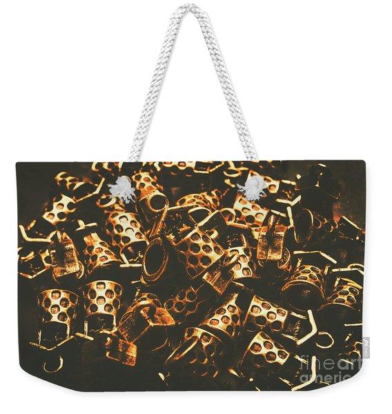 Golden Wells Weekender Tote Bag