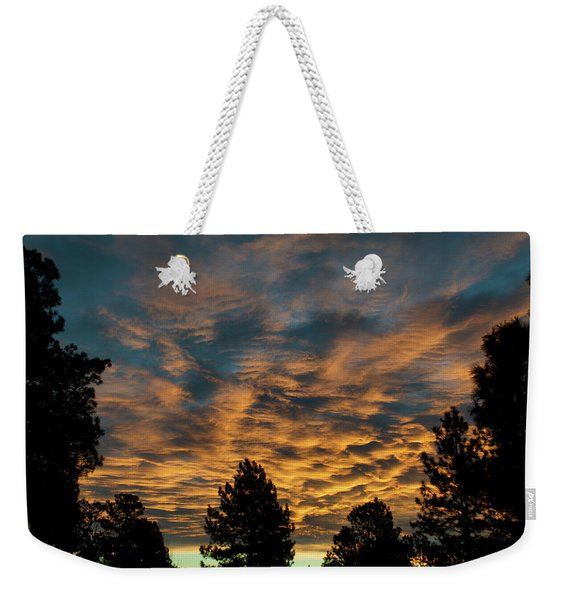 Weekender Tote Bag featuring the photograph Golden Winter Morning by Jason Coward
