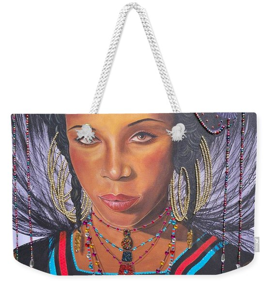Gracious Golden Wodaabe Girl           From The Attitude Girls  Weekender Tote Bag