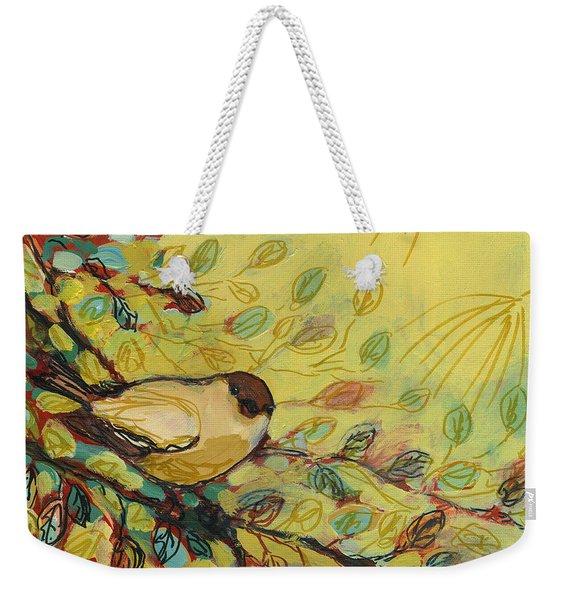 Goldfinch Waiting Weekender Tote Bag