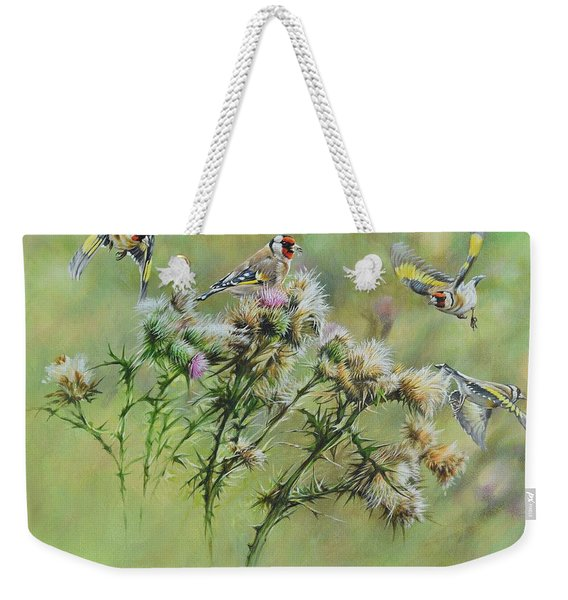 Goldfinches On Thistle Weekender Tote Bag