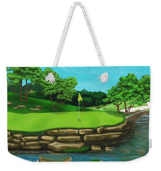 Golf Green Hole 16 Weekender Tote Bag