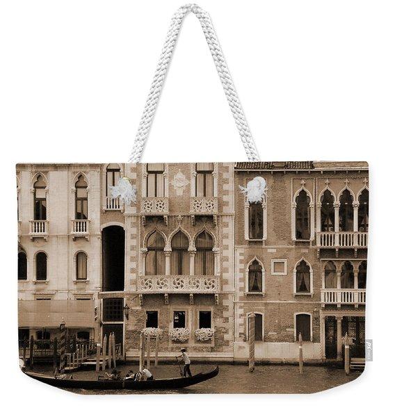 Gondola Crossing Grand Canal Weekender Tote Bag