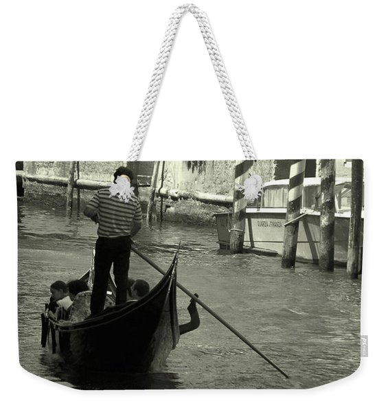 Gondolier In Venice   Weekender Tote Bag