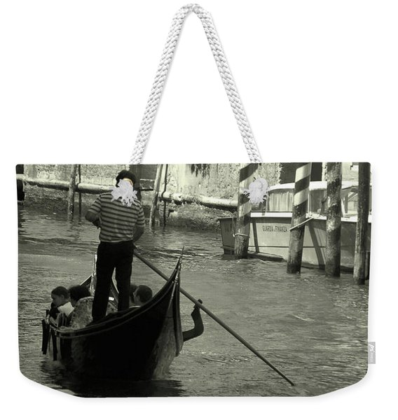 Gondolier In Venice   Weekender Tote Bag