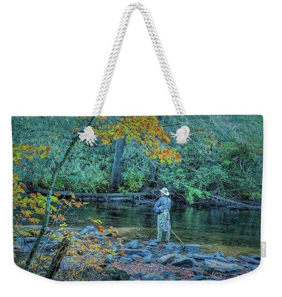 Gone Fishing Weekender Tote Bag