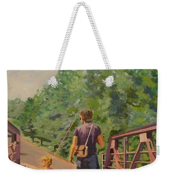 Gone Fishing With Dad Weekender Tote Bag