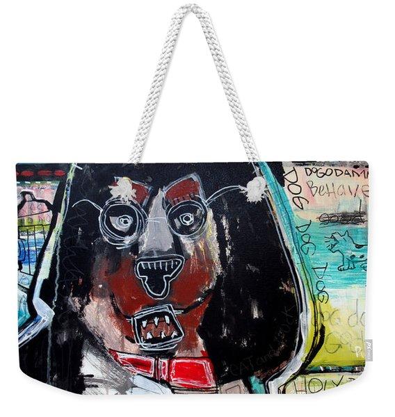 Good Dog Weekender Tote Bag