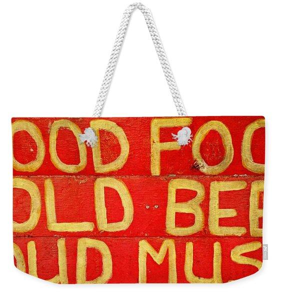 Good Food Weekender Tote Bag