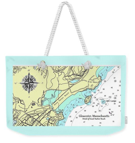 Good Harbor Beach Weekender Tote Bag