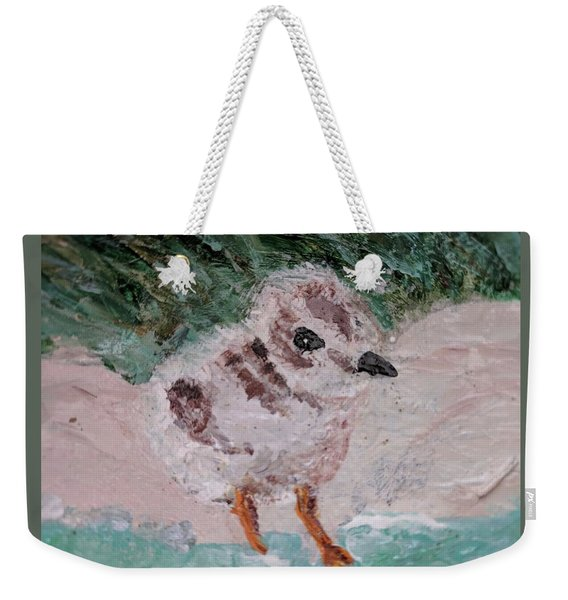 Good Harbor Piping Plover Chick #1 Weekender Tote Bag