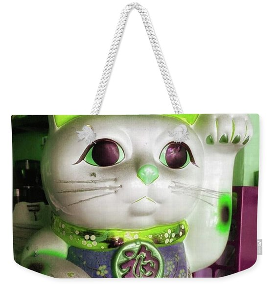 Weekender Tote Bag featuring the photograph Good Meowning. I Feel So Lucky Today by Mr Photojimsf
